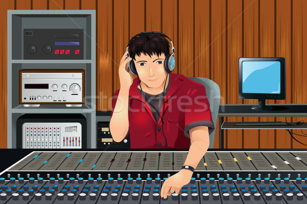 Music producer in studio Stock photo © artisticco