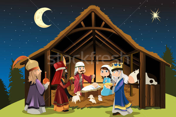 Jesus Christ and three wise men Stock photo © artisticco