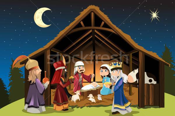 Jesus christ drie wijs mannen christmas Stockfoto © artisticco
