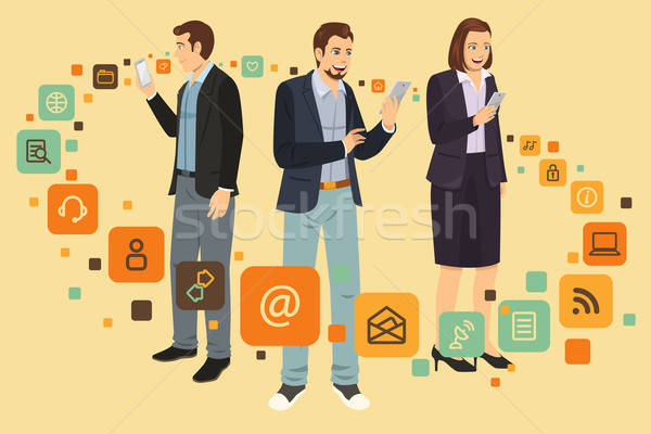 People Using Device Stock photo © artisticco