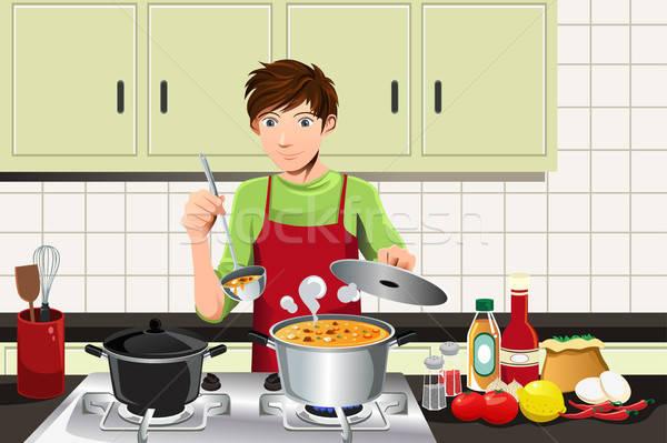 Man cooking Stock photo © artisticco