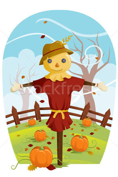 Scarecrow for Fall harvest Stock photo © artisticco