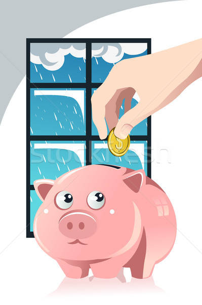 Saving for the rainy day Stock photo © artisticco