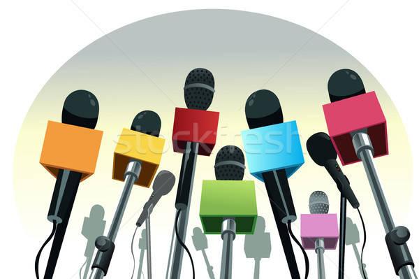 Pódio colorido cópia espaço notícia conferência etapa Foto stock © artisticco