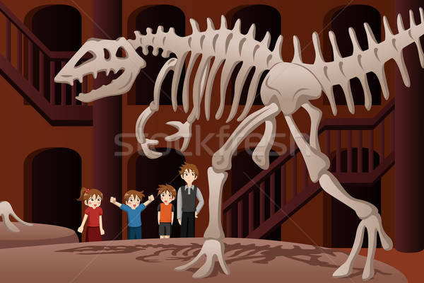 Kids on a field trip to a museum Stock photo © artisticco