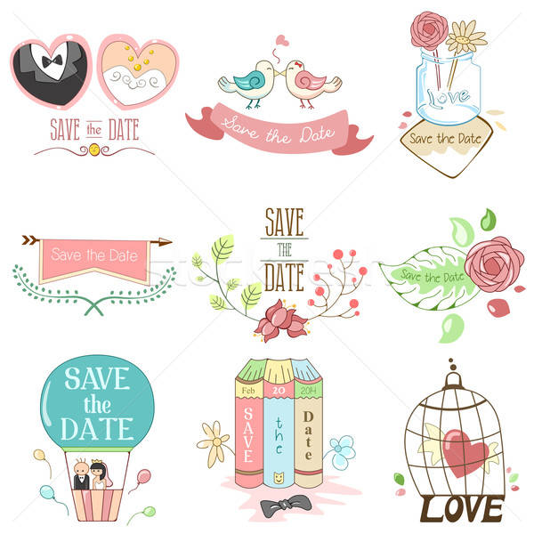 Save the date for wedding Stock photo © artisticco