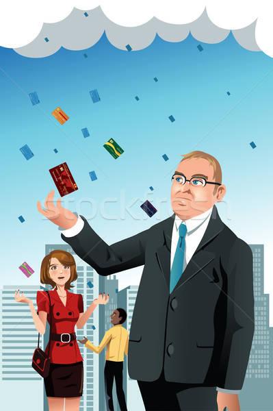 Raining credit cards Stock photo © artisticco