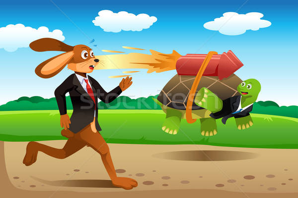 Tortoise and hare racing Stock photo © artisticco