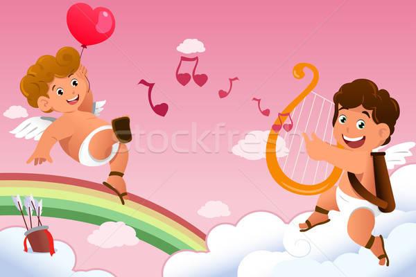 Cupid Valentine background Stock photo © artisticco