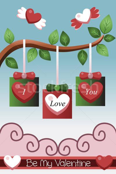 Valentine card design Stock photo © artisticco