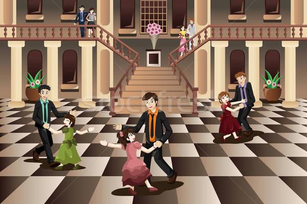Ojciec córka taniec sala balowa dziewczyna człowiek Zdjęcia stock © artisticco