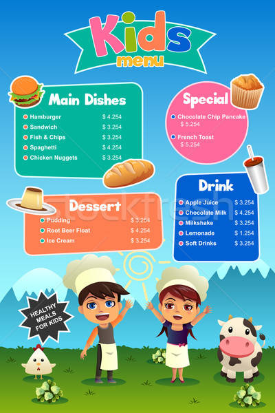 Kids Meal Menu Stock photo © artisticco