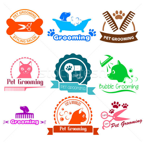 Pet Grooming Service Business Logos Stock photo © artisticco