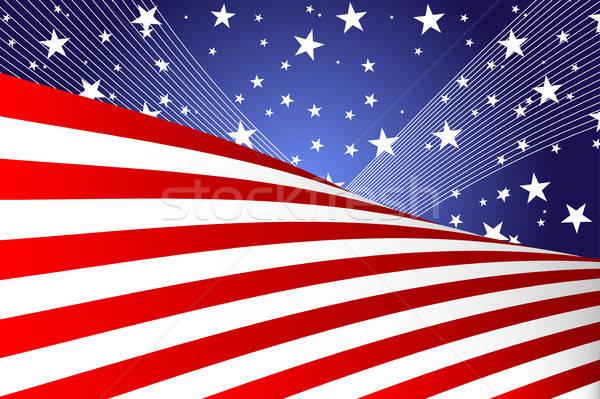 Dördüncü afiş mutlu ışık web mavi Stok fotoğraf © artisticco