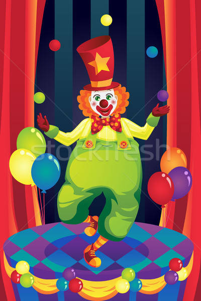 Clown on stage Stock photo © artisticco