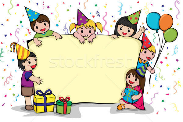 Birthday party invitation Stock photo © artisticco