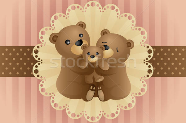 Bear family hugging Stock photo © artisticco