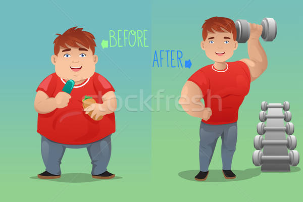 Before and after: weight loss Stock photo © artisticco