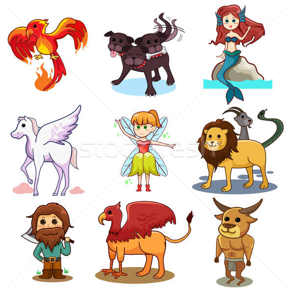 Fairy tale icons Stock photo © artisticco