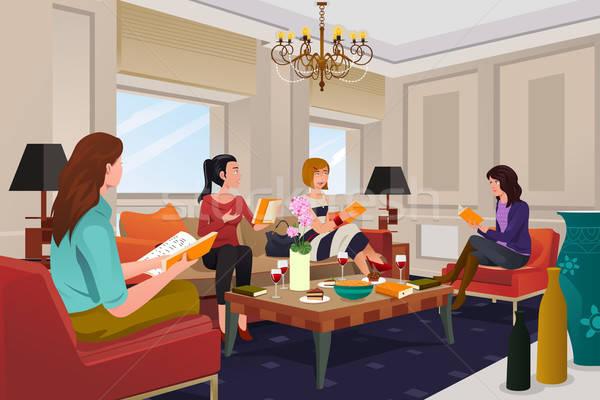Women in a book club meeting Stock photo © artisticco