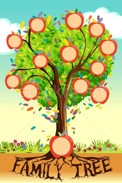 Family Tree Template Stock photo © artisticco