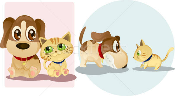 Dog and cat Stock photo © artisticco