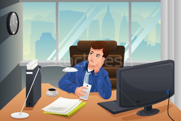 бизнесмен глядя скучно служба бизнеса молодые Сток-фото © artisticco