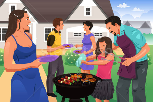 Friends Gather for BBQ Party Stock photo © artisticco