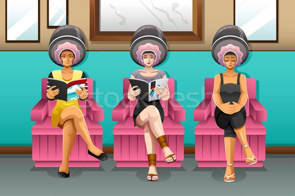 Donne parrucchiere ragazza capelli bellezza giovani Foto d'archivio © artisticco