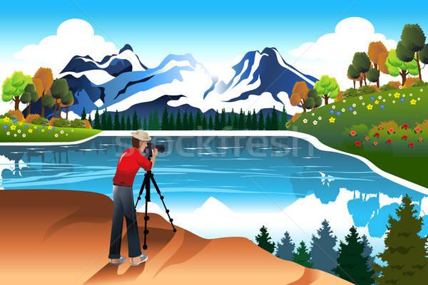 фотограф фотография красивой природы озеро Сток-фото © artisticco
