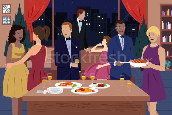 People at Dinner Party Stock photo © artisticco