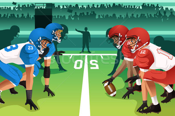 Football players in a match  Stock photo © artisticco