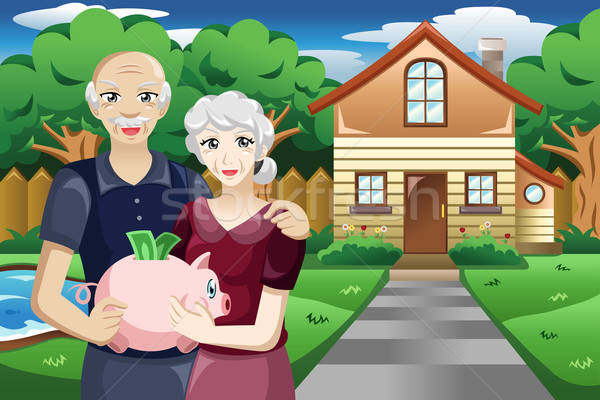 Retired people with their savings Stock photo © artisticco