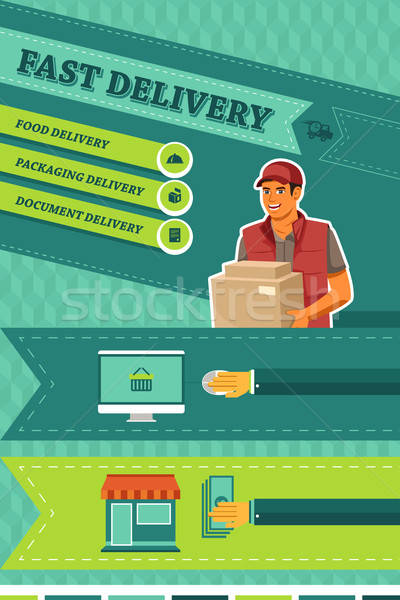 Man Delivering a Package Stock photo © artisticco