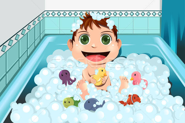 赤ちゃん 泡風呂 バス 子 ホーム ストックフォト © artisticco