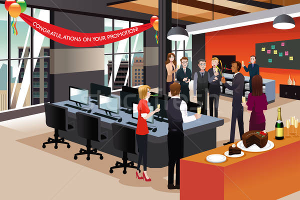 Businesspeople Celebrating their Colleague Promotion Stock photo © artisticco