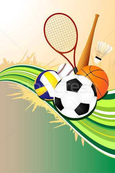 Ball sports background Stock photo © artisticco