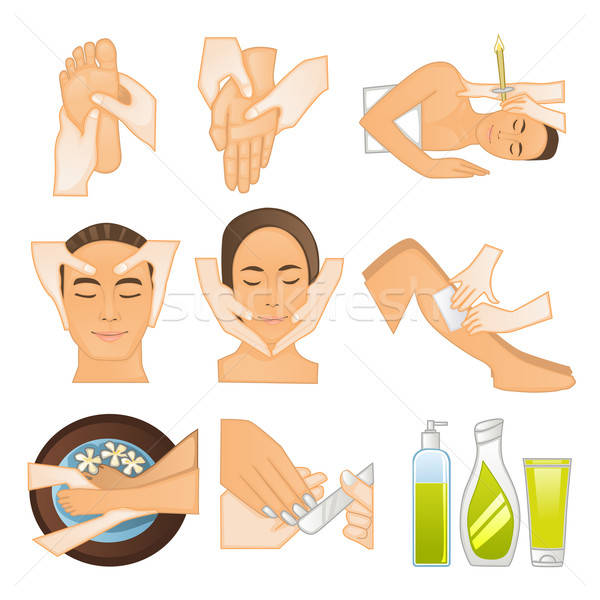 Beauty spa icons Stock photo © artisticco
