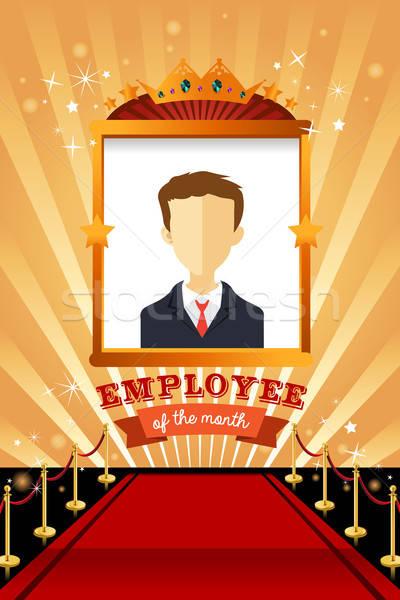 Alkalmazott hónap poszter keret terv állás Stock fotó © artisticco