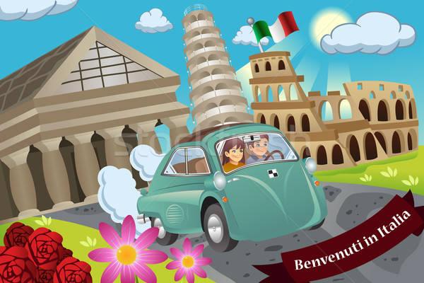 Couple  Honeymoon Around Italy Stock photo © artisticco