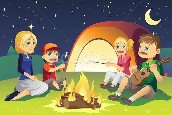 Camping family Stock photo © artisticco