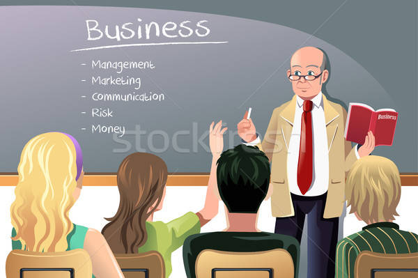 Business teacher Stock photo © artisticco