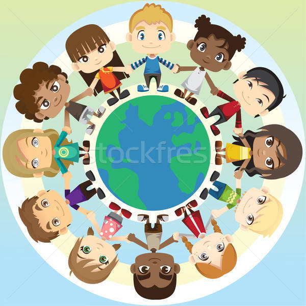Children in unity Stock photo © artisticco