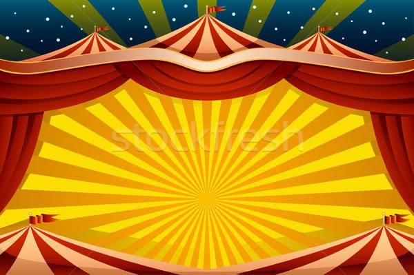 Circus Tent Background Stock photo © artisticco