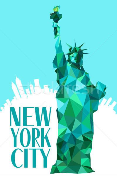 Yeni şehir heykel özgürlük dizayn seyahat Stok fotoğraf © artisticco