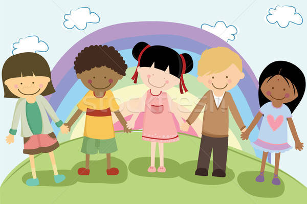 Multi ethnic children Stock photo © artisticco