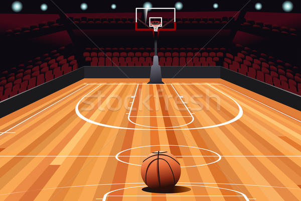 Basketball on Floor Stock photo © artisticco