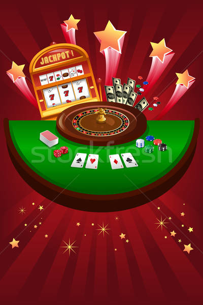 Casino jeux design argent étoiles carte Photo stock © artisticco