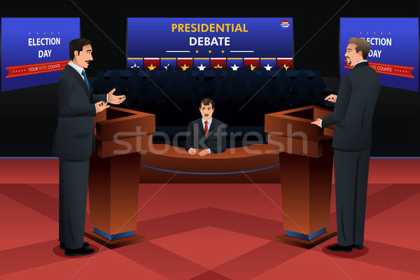 Presidential Debate Stock photo © artisticco