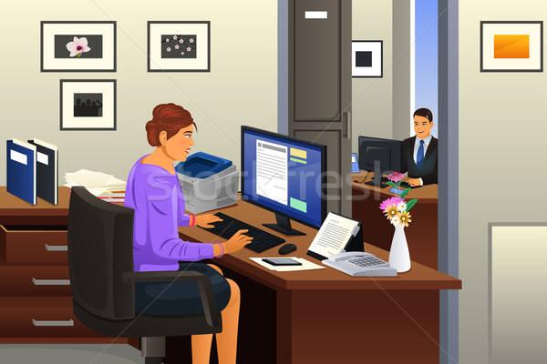 Secretary in the Office Stock photo © artisticco